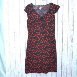 Sfuzi Cherry Print Dress Size Large